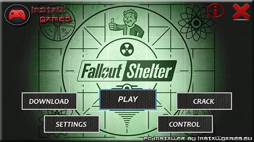 Fallout Shelter PC Installer Download Menu