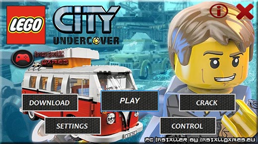 LEGO City Undercover PC Installer Download Menu
