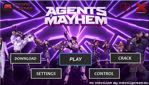 Agents of Mayhem PC Installer menu Download