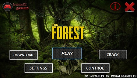 The Forest PC Installer Download Menu