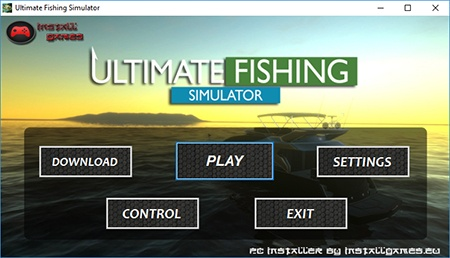ultimatefishing simulator pc menu