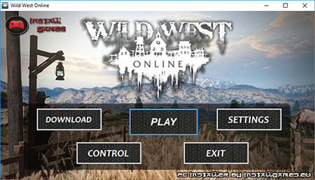 Wild West Online PC Installer Menu